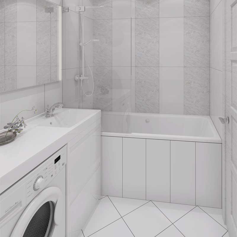 современные ванные комнаты кафель