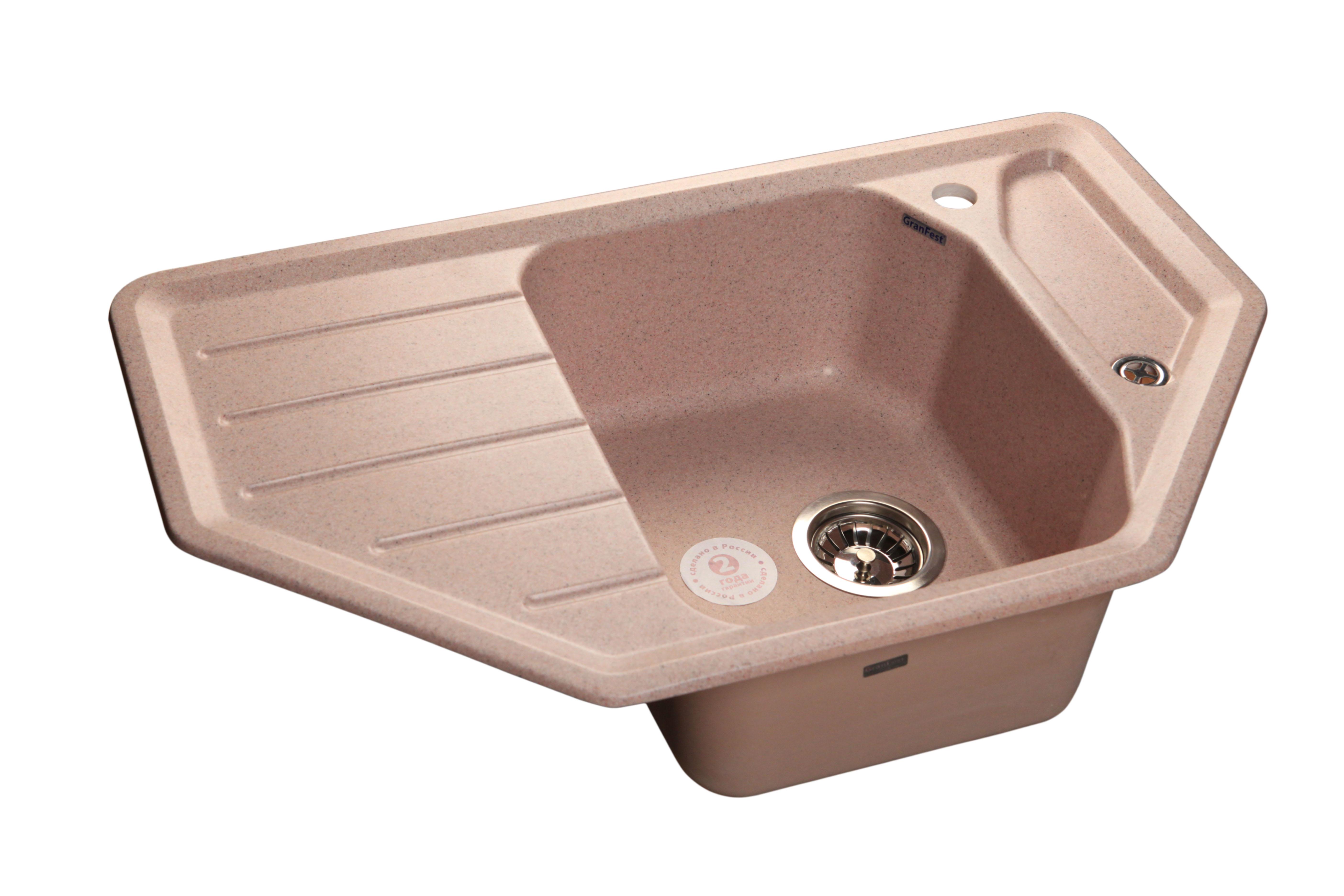 Мойка для кухни  GranFest Corner  GF-C800E цвет Розовый
