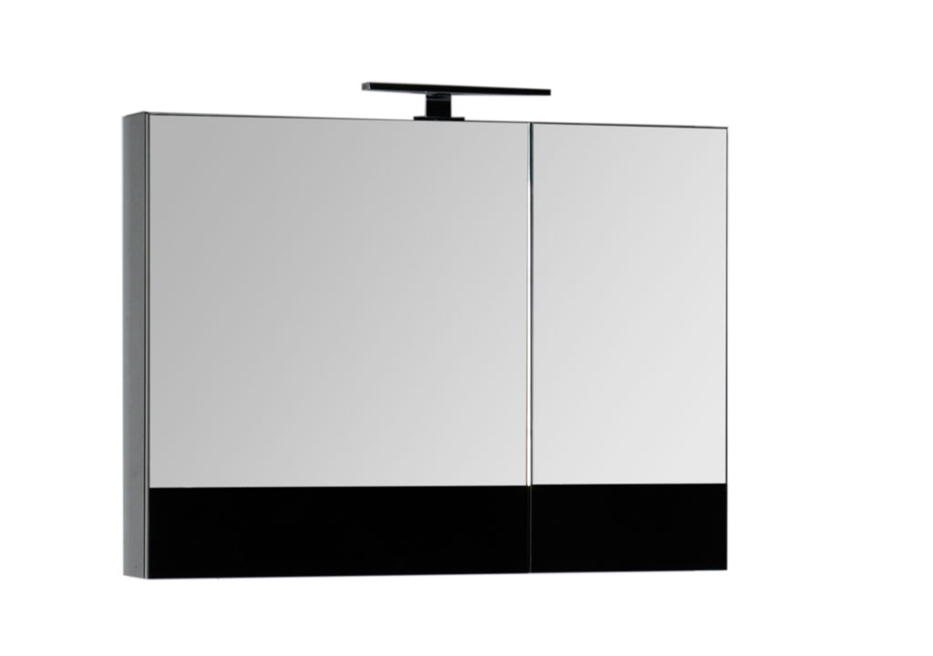 """Зеркало Aquanet Верона 90 черное купить недорого в интернет магазине """"Ванна и Я"""""""