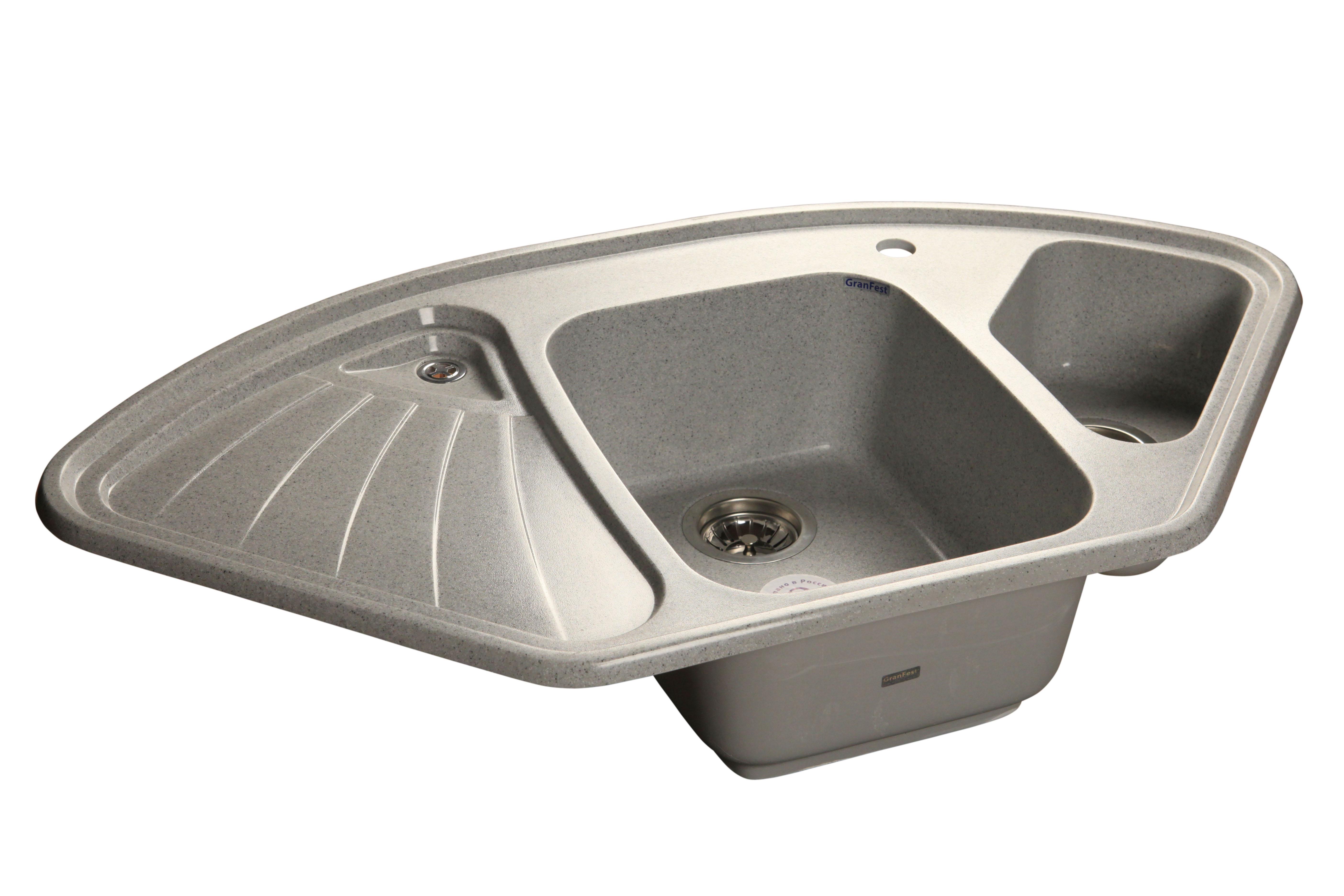 Мойка для кухни  GranFest Corner  GF-C1040E цвет Серый