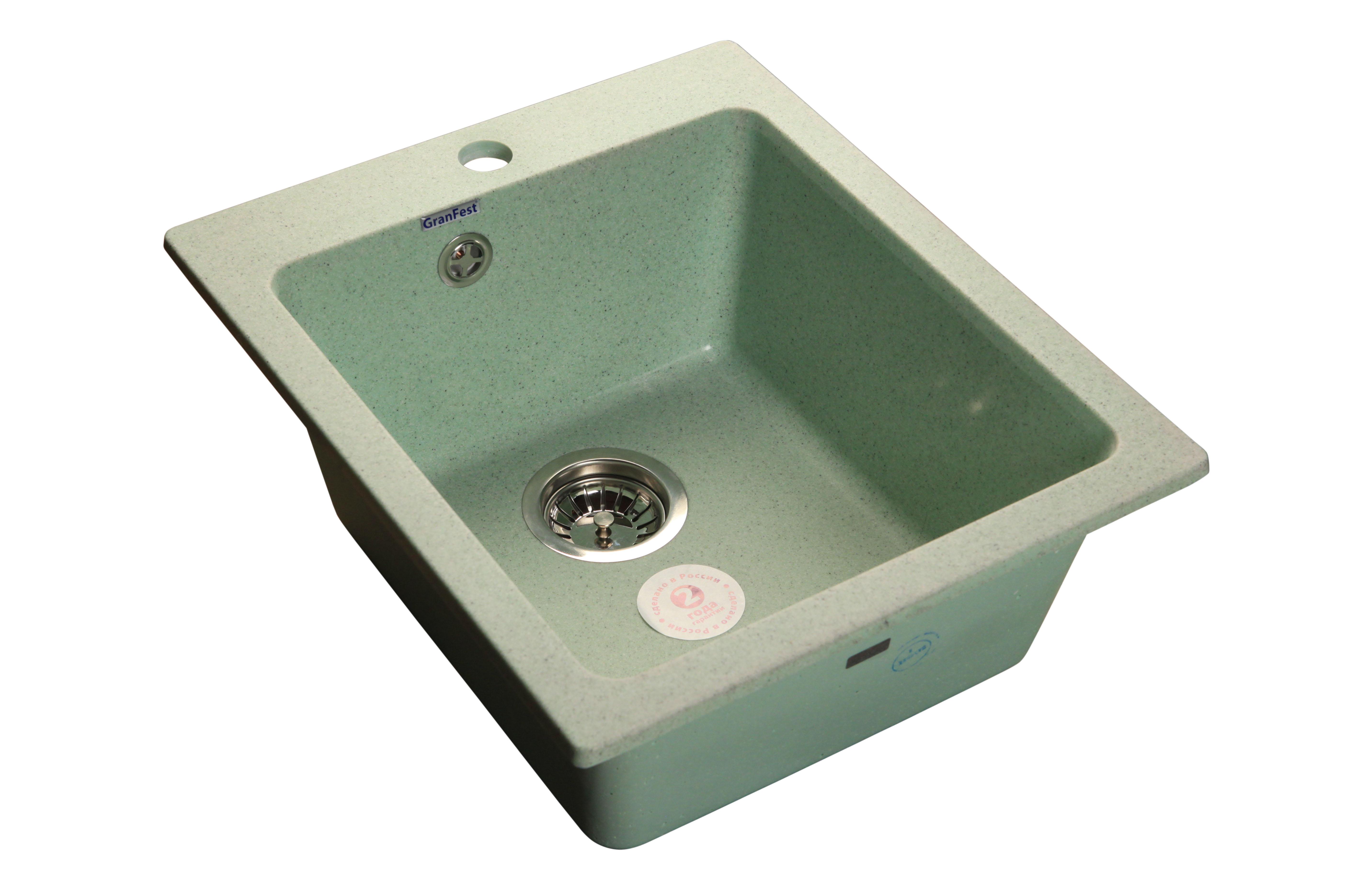 Мойка для кухни  GranFest Practic  GF-P505 цвет Салатовый