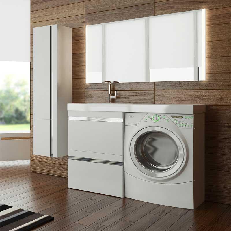 Мебель Lotos 120 см для ванной комнаты подвесная