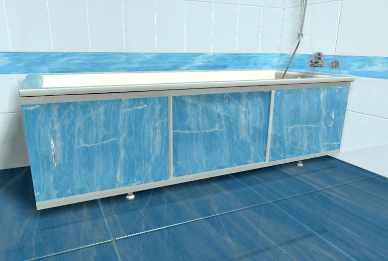 Экран для ванны из пластиковых панелей своими