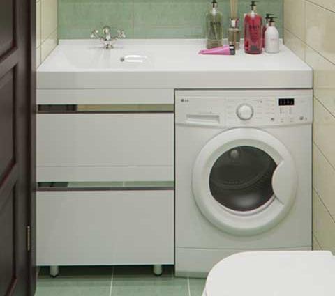 Тумба с раковиной под стиральную машину своими руками