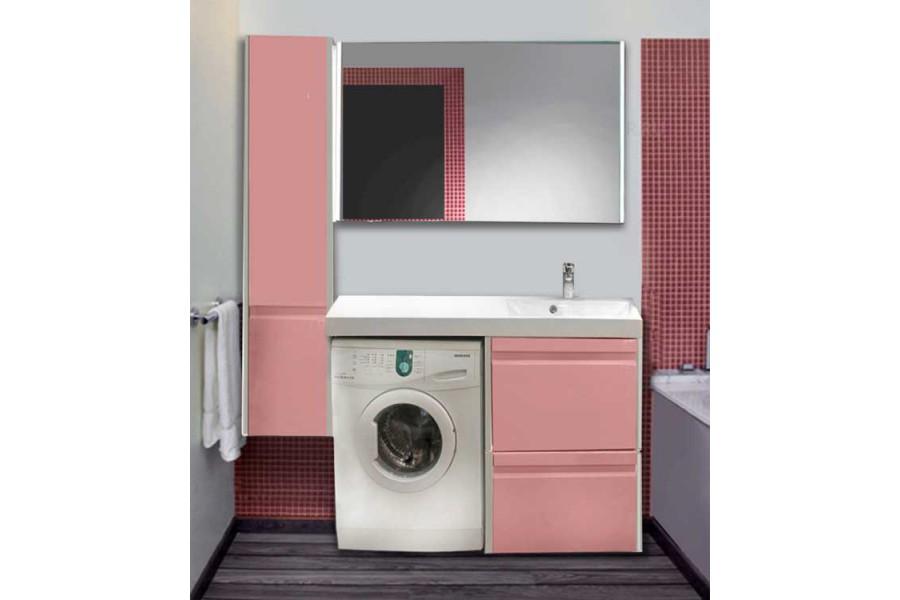 Мебель Lotos 130 см для ванной комнаты, подвесная, под стиральную машину.